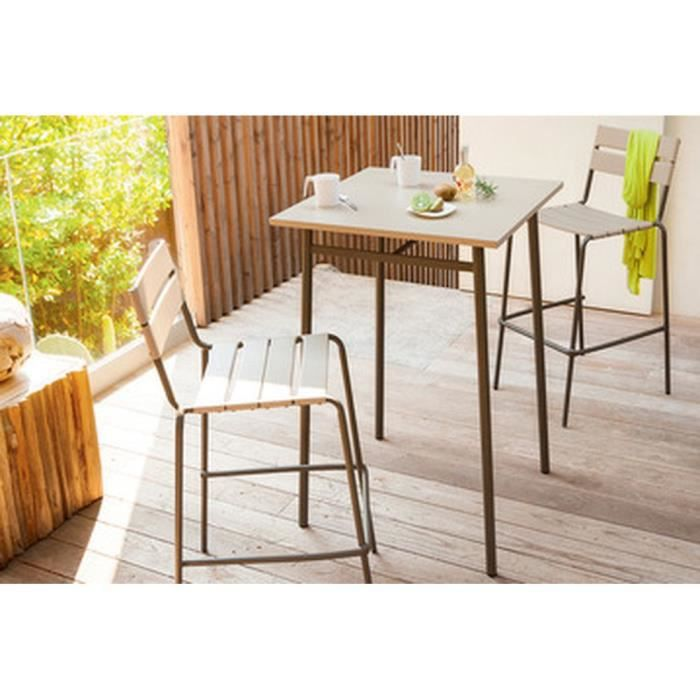 Table Haute Cayey Taupe Achat Vente Table De Jardin Table Haute Cayey Taupe Cdiscount