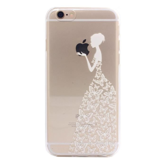 iphone 6 coque silicone fille