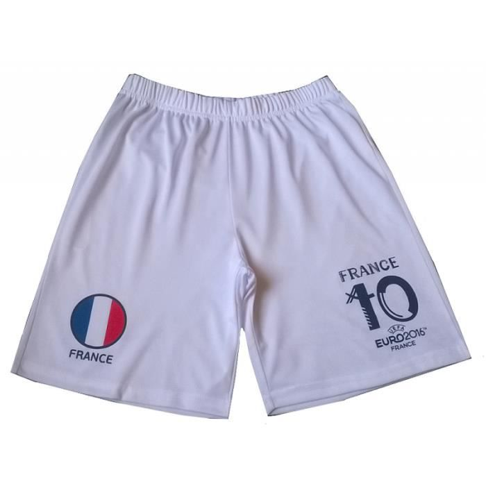 Short de foot FRANCE UEFA Euro 2016 Officiel enfant blanc - Prix pas ... acd3a04000b