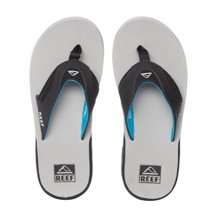 Tongs Reef Fanning Light Gris-Bleu k4HKt
