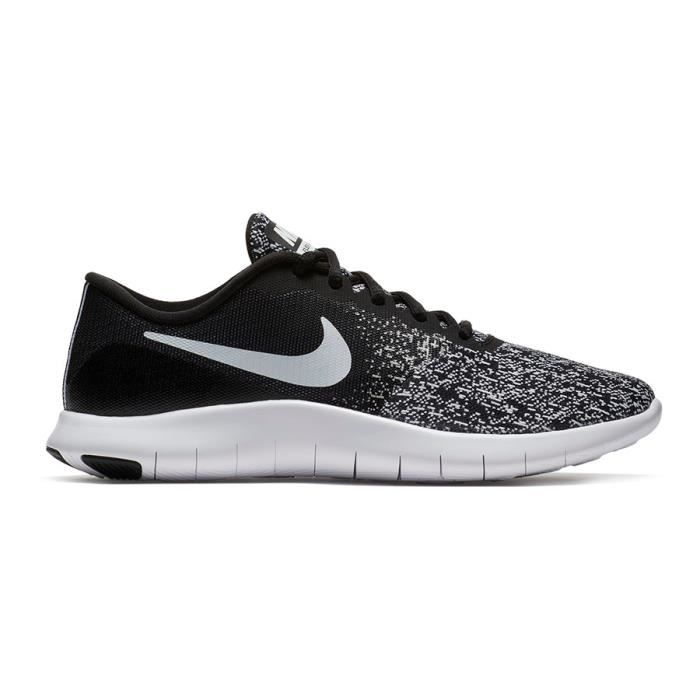 the latest 921ab ee1f4 BASKET Chaussures Nike Flex Contact noir gris blanc femme