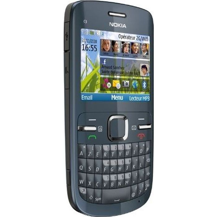 nokia c3 00 tout operateur achat t l phone portable. Black Bedroom Furniture Sets. Home Design Ideas