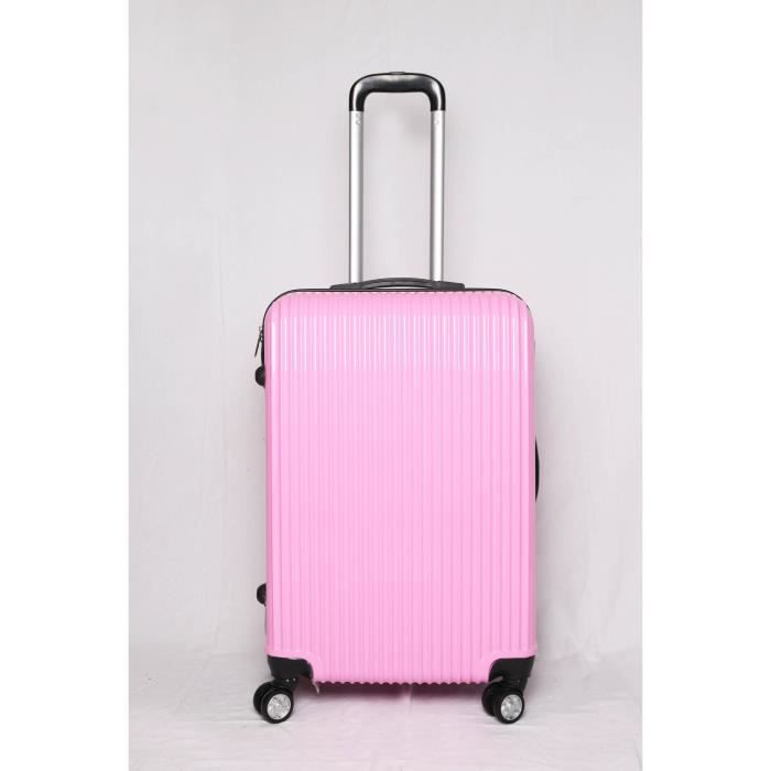 valise trolley 4 roues 65cm sole rose achat vente valise bagage 2009923062247 cdiscount