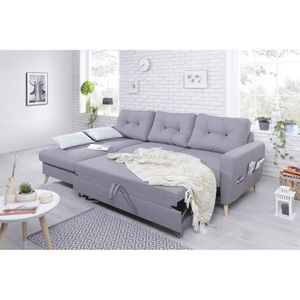 Canape oslo achat vente canape oslo pas cher cdiscount - Canape convertible cocktail scandinave ...