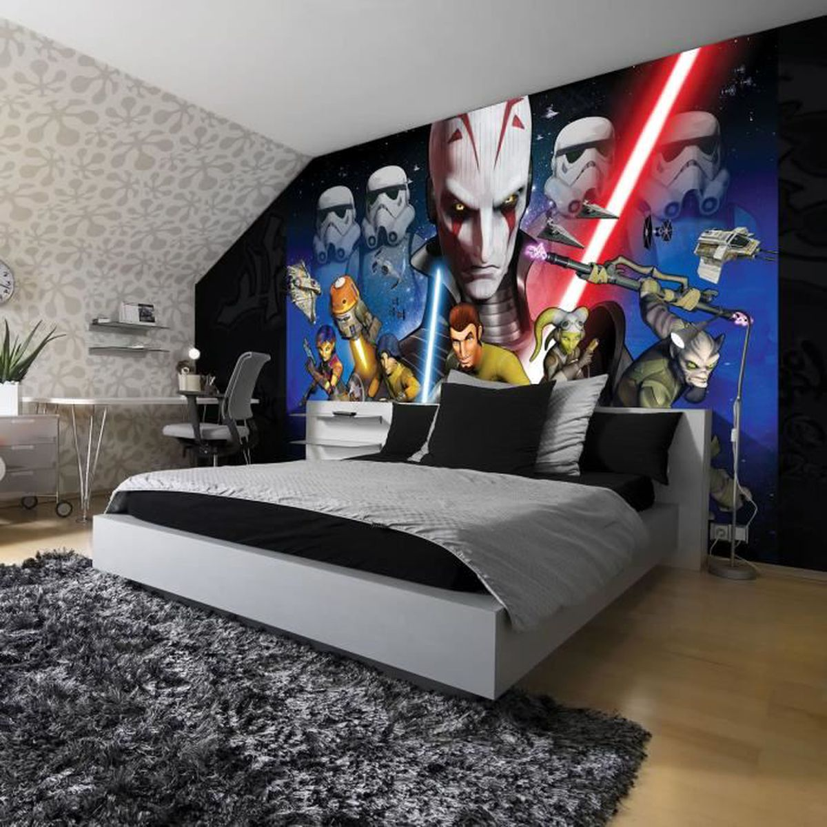 fresque murale star wars rebels 254 x 184 cm – papier peint - achat