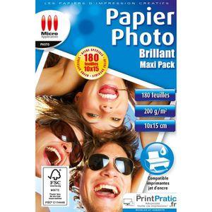 Le Papier Photo est Parfait pour des tirages photor/éalistes et num/ériques avec Reproduction Couleur Brillante 1000 Feuilles Papier Photo glac/é 10x15 Brillant 230g //m/²
