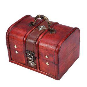 BOITE A BIJOUX 2pcs - set classeur en bois classique boîte de ran