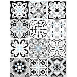 STICKERS Planche de 12 stickers Carreaux de Ciment - Greybl