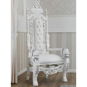 FAUTEUIL Trône Chaise Lion Style Baroque Moderne Fauteuil R