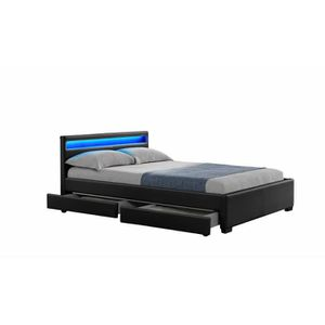 lit boxspring 160x200 achat vente lit boxspring 160x200 pas cher soldes cdiscount. Black Bedroom Furniture Sets. Home Design Ideas