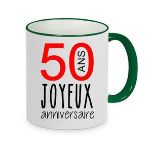 BOL - MUG - MAZAGRAN mug - Céramique - Vert fonce LMK JOYEUX ANNIVERSAI