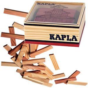 ASSEMBLAGE CONSTRUCTION KAPLA Coffret Bois 40 Planchettes - Rouge