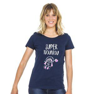 T-SHIRT We are family Tshirt SUPER NOUNOU NAVY XXL- Produi