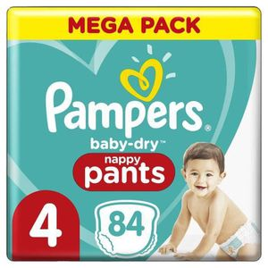 COUCHE Pampers Baby-Dry Pants Couches-Culottes Taille4,