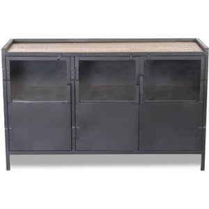 buffet industriel metal achat vente buffet industriel metal pas cher cdiscount. Black Bedroom Furniture Sets. Home Design Ideas
