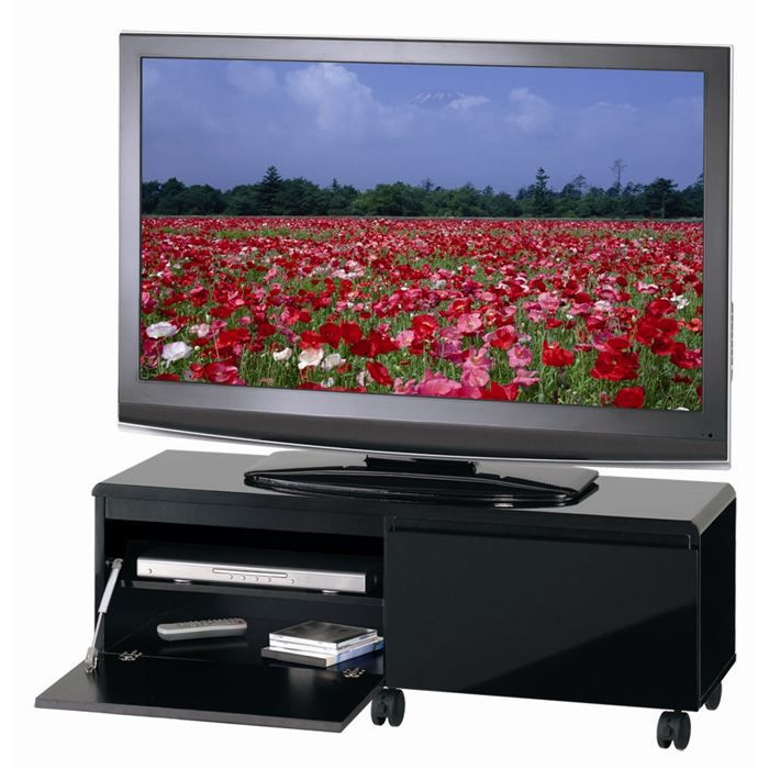barcelone meuble tv 110cm noir achat vente meuble tv meuble tv barcelone panneaux mdf pvc. Black Bedroom Furniture Sets. Home Design Ideas
