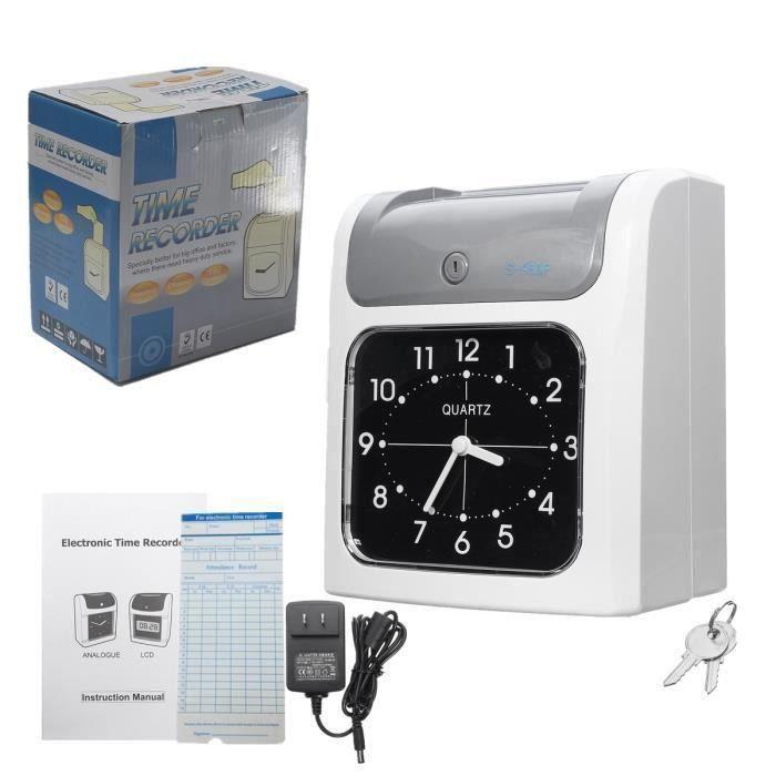 Electronique Pointeuse Badgeuse Horloge Gestion Temps de Assistance Enregistreur Pour employés SCB91