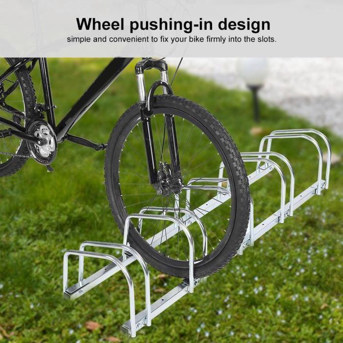 Râtelier Range-Vélo au Sol Support de Rangement durable pour longtempsutilisation à long terme pour 5 Vélos VTT
