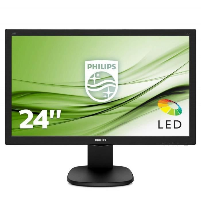 Écrans PC Philips S Line 243S5LHMB LED Display 59,9 cm (23.6-) Full HD Mat Noir - Écrans Plats de PC (59,9 cm (23.6-), 1 766
