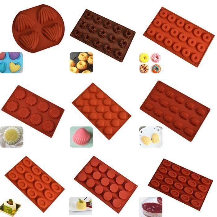 Moule bricolage à gâteaux en Silicone antiadhésifs Biscuits de Madeleine doughous moule à gâteaux en gelée de - Type Cookies #A