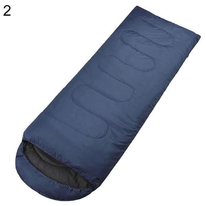 Enveloppe de style adultes imperméables sacs de couchage randonnée camp de pêche en plein air bleu foncé D055C7