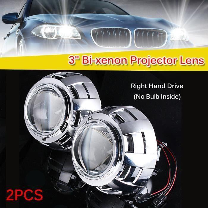 HID Bi-Xénon Projecteur Lentille Phare H1 H4 H7 Rénovation Phares de Voiture ma67717