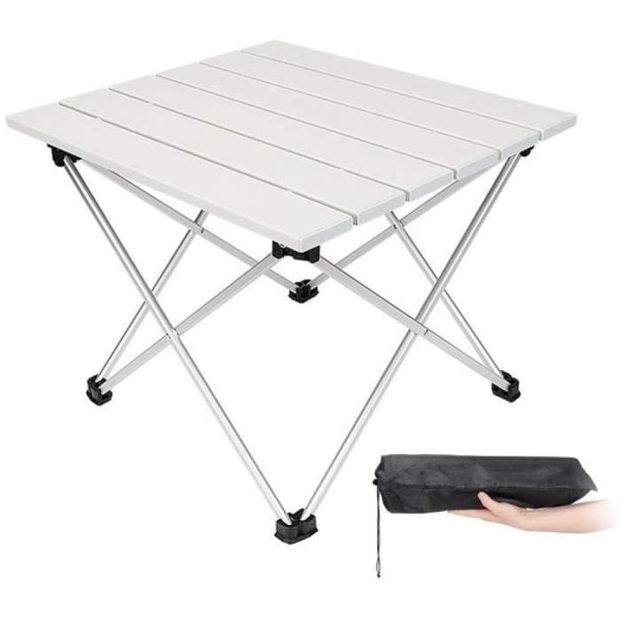 Tables de jardin LGFSG Table Pliante Meubles d'extérieur de Jardin Tables Pliantes carrées Noires avec Pochette Camping 100980