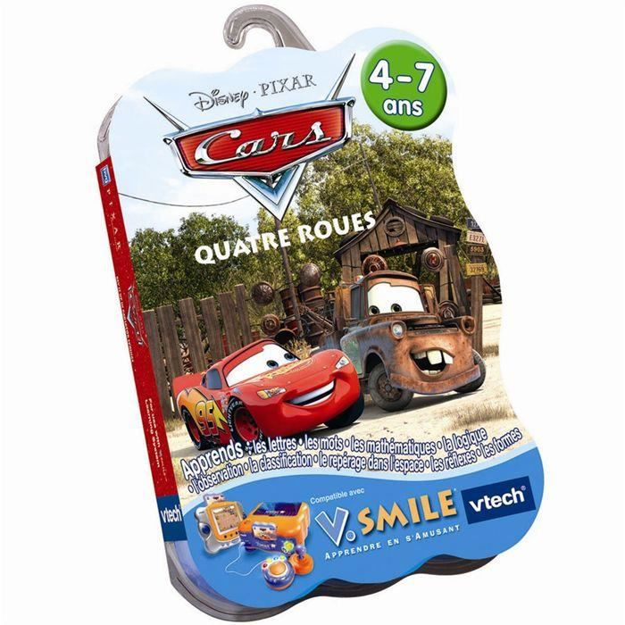 CARS QUATRE ROUES JEU DISNEY VTECH V.SMILE