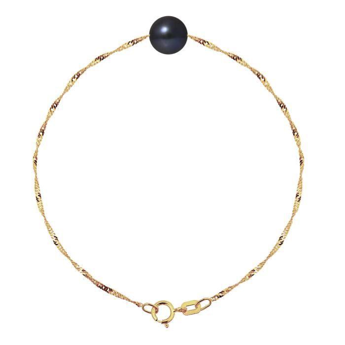 PERLINEA Bracelet Perle de Culture et Or Jaune 375° Femme