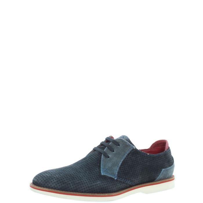 Chaussures de ville Bugatti cuir ref_45594 Dark Blue