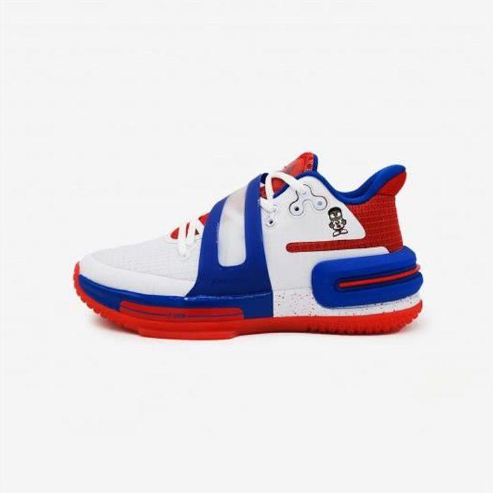 Chaussures de basketball Peak Flash 2 - blanc/rouge/bleu - 38