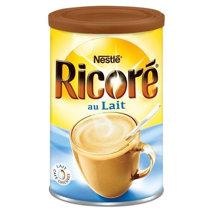LOT DE 4 - RICORE : Café au lait à la chicorée soluble 400 g