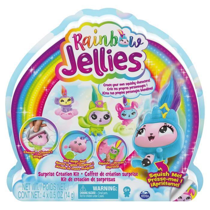 PACK DE 4 Rainbow Jellies - 6056248 - Coffret création 25 surprises pour créer des personnages personnalisés, Pour enfants 6 ans