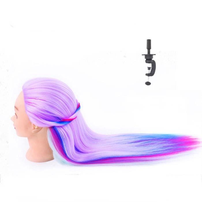 Neverland 28'' Têtes d'exercice,Tête à Coiffer Coiffure,100% Fibre Synthétique Cheveux, Mannequin Poupée pour le Salon B20