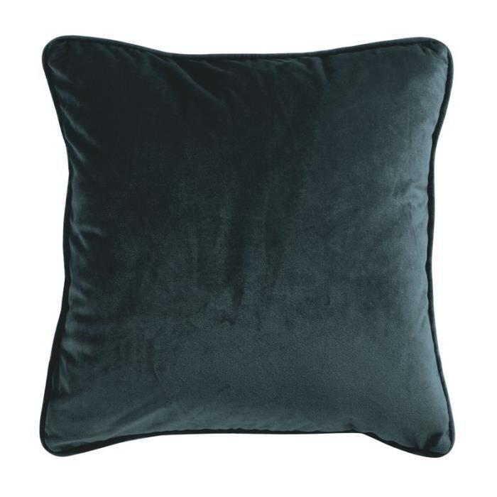 VELOURS - Coussin en velours gris carbone 40x40