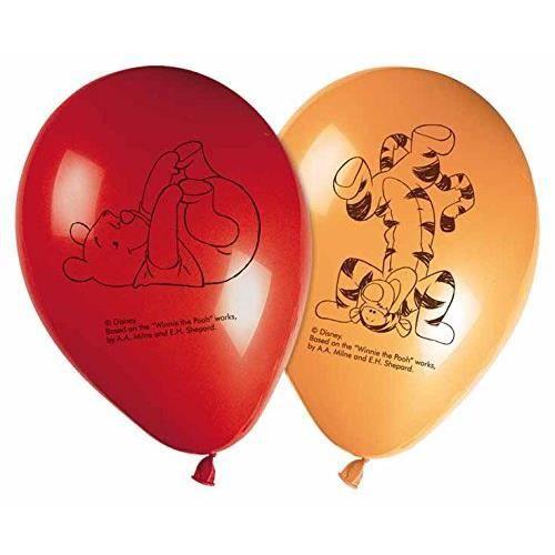 lot de 8 ballons winnie l'ourson déco anniversaire