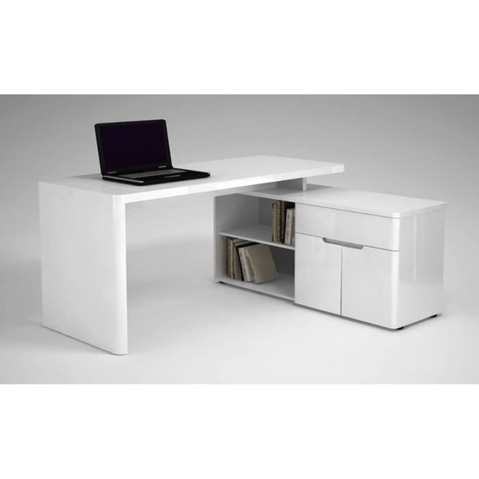 bureau d 39 angle design anglia atylia couleur blanc achat vente bureau bureau d 39 angle design. Black Bedroom Furniture Sets. Home Design Ideas