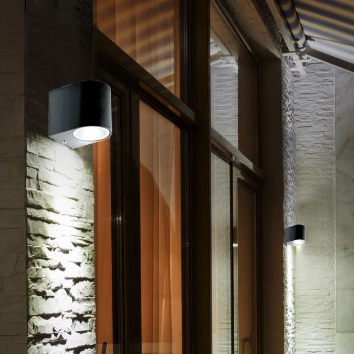 2x Extérieur Lampe de jardin aluminium éclairage véranda Cour Chemin Up /& Down Projecteur