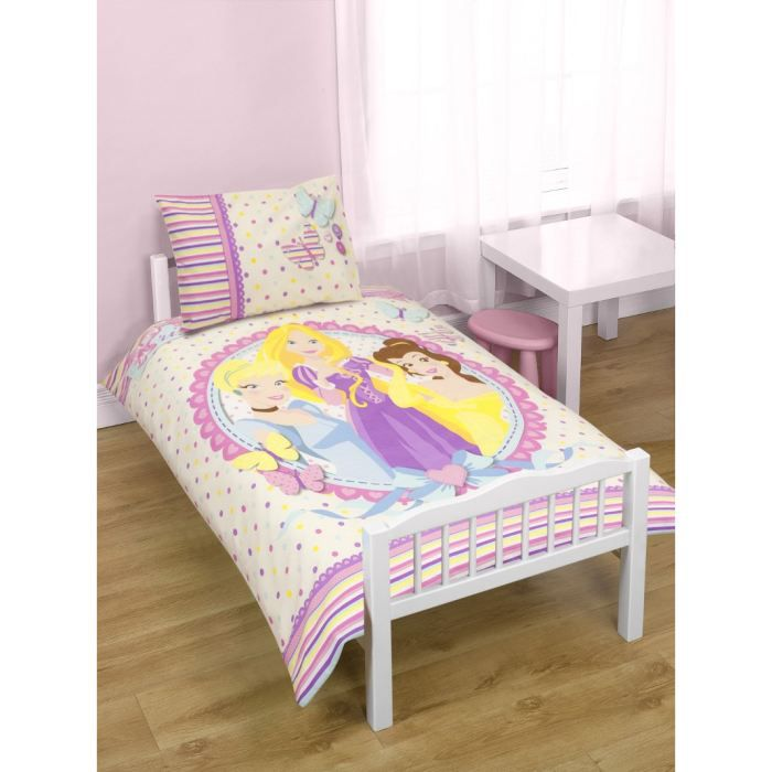 parure de lit junior medaillon princesse disney achat vente parure de lit b b parure de lit. Black Bedroom Furniture Sets. Home Design Ideas