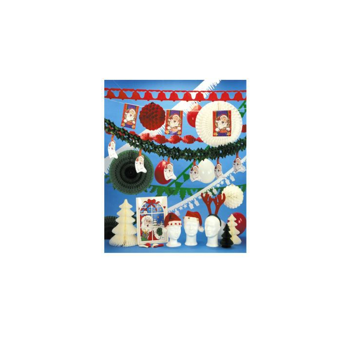 Kit de d coration no l rouge vert blanc achat vente for Achat decoration de noel