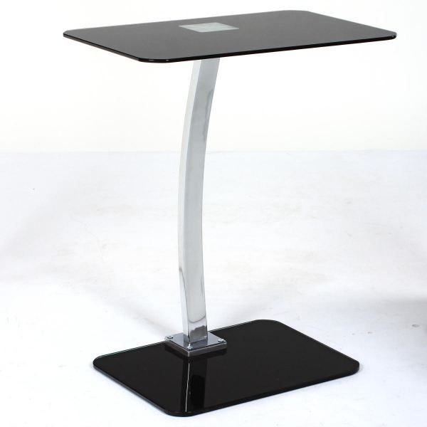 Table d 39 appoint acylia coloris noir achat vente table for Table d appoint lit