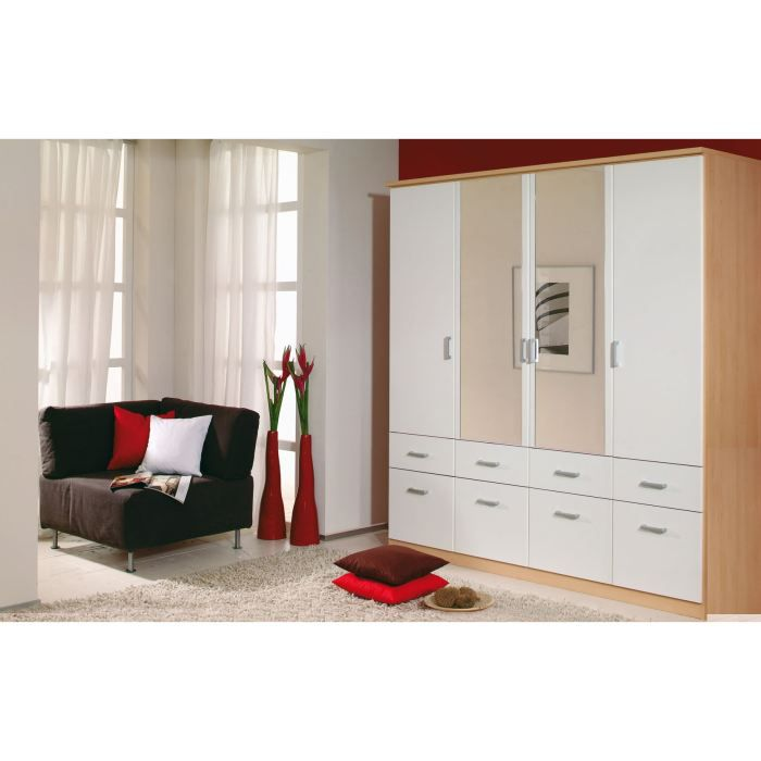 armoire adulte design laetitia iv achat vente armoire de chambre armoire adulte design laeti. Black Bedroom Furniture Sets. Home Design Ideas