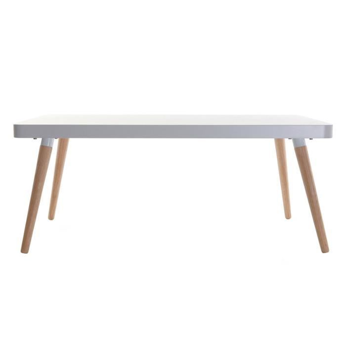 Miliboo table basse design scandinave totem achat for Table basse scandinave laquee