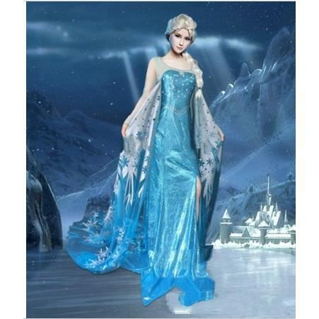 robe reine de neiges adulte costume d guisement princesse elsa achat vente d guisement. Black Bedroom Furniture Sets. Home Design Ideas