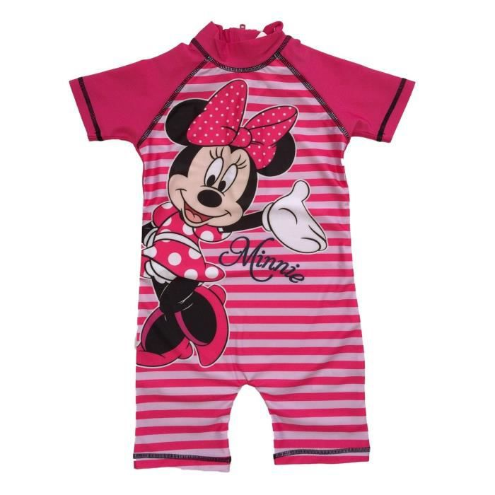 f6bcfcbe84 Maillot de bain MINNIE combinaison anti uv bébé enfant Disney Rose ...