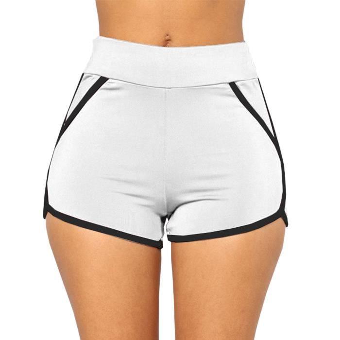 short sport femme blanc