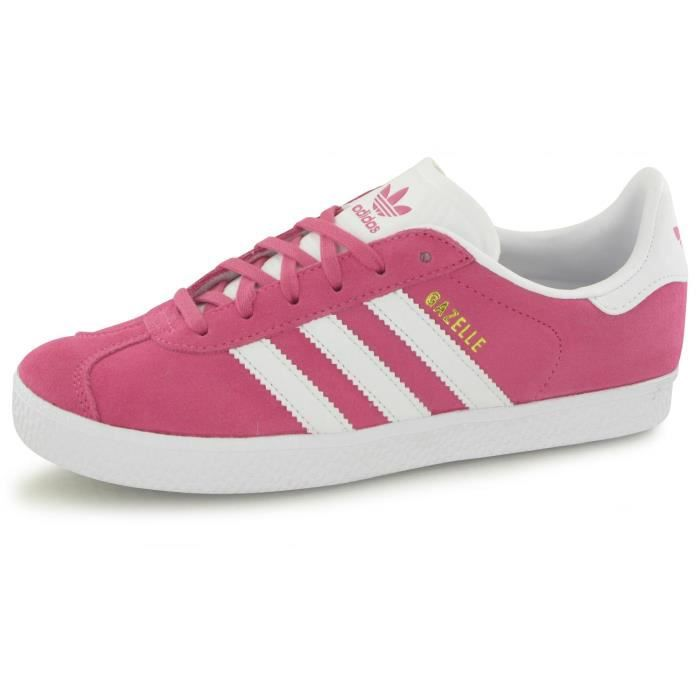Baskets Adidas Gazelle Rose Enfant