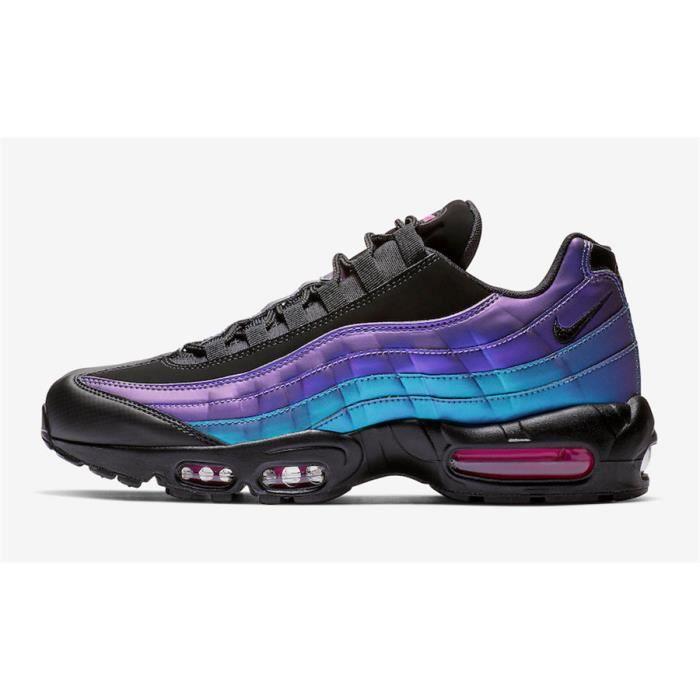 Nike Air Max 95 Chaussures De Course Noir Violet Bleu. Bleu Noir ...