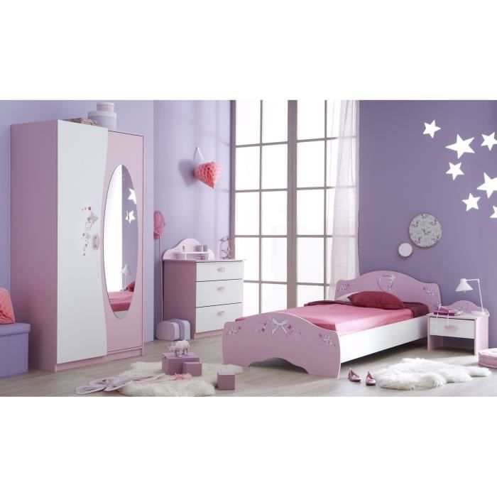 papillon chambre enfant 4 pi ces rose blanc achat vente chambre compl te papillon chambre 4. Black Bedroom Furniture Sets. Home Design Ideas