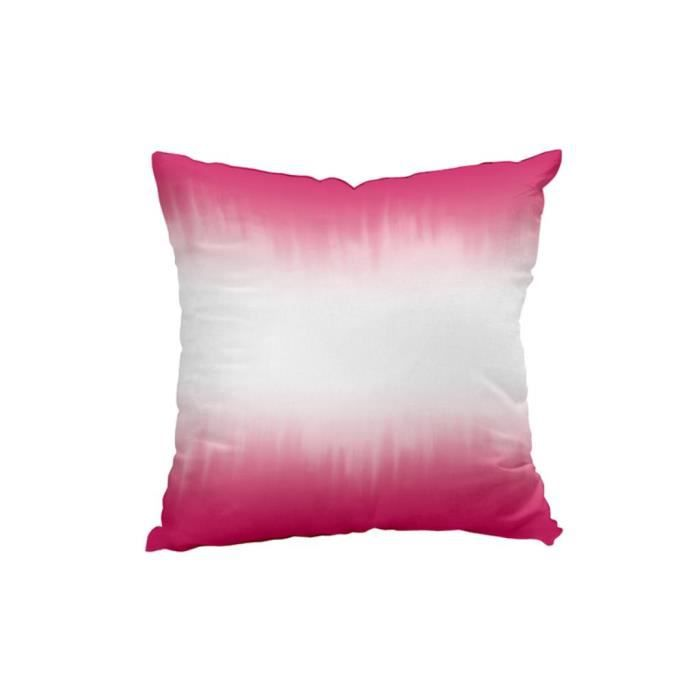 coussin d co tie and dye fuschia achat vente coussin. Black Bedroom Furniture Sets. Home Design Ideas